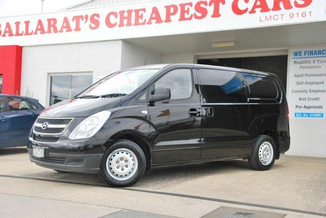 Used Hyundai iLOAD TQ MY13 Wendouree, 2012 Hyundai iLOAD TQ MY13 Black 6 Speed Manual Van