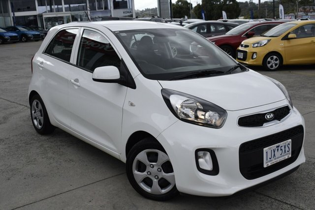 Used Kia Picanto TA MY17 SI Ferntree Gully, 2017 Kia Picanto TA MY17 SI White 4 Speed Automatic Hatchback