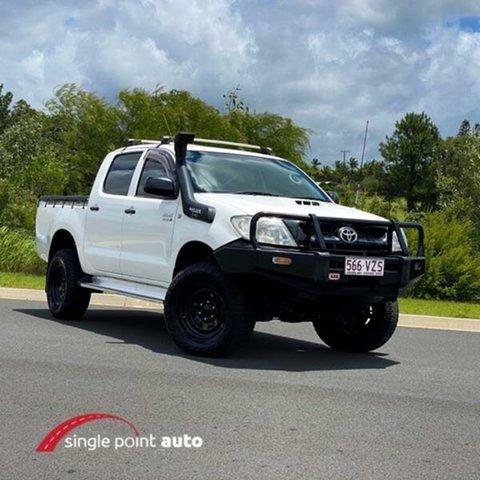 Used Toyota Hilux KUN26R MY10 SR Chevallum, 2011 Toyota Hilux KUN26R MY10 SR White 4 Speed Automatic Utility