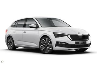 2020 Skoda Scala NW MY20.5 110TSI DSG Launch Edition White 7 Speed Sports Automatic Dual Clutch