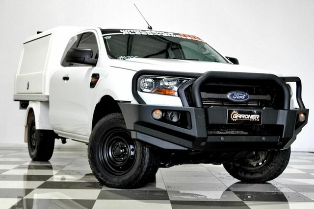 Used Ford Ranger PX MkII MY18 XL 3.2 (4x4) Burleigh Heads, 2017 Ford Ranger PX MkII MY18 XL 3.2 (4x4) White 6 Speed Automatic Super Cab Chassis