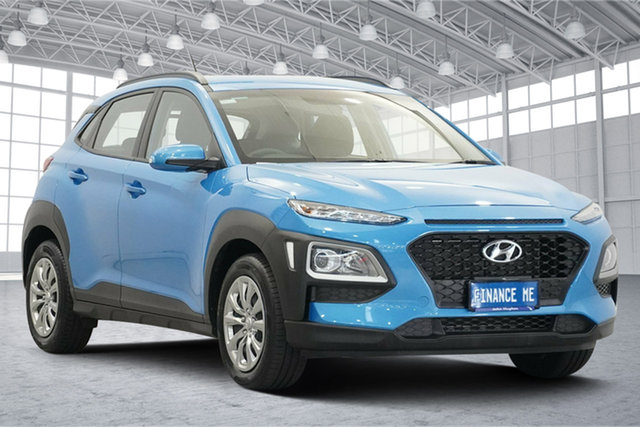 Used Hyundai Kona OS.3 MY20 Go 2WD Victoria Park, 2019 Hyundai Kona OS.3 MY20 Go 2WD Blue 6 Speed Sports Automatic Wagon