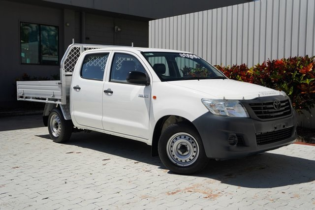 Used Toyota Hilux TGN16R MY14 Workmate Double Cab 4x2 Cairns, 2015 Toyota Hilux TGN16R MY14 Workmate Double Cab 4x2 White 4 Speed Automatic Utility