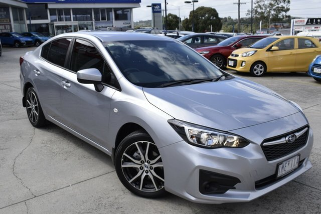 Used Subaru Impreza G5 MY18 2.0i CVT AWD Ferntree Gully, 2018 Subaru Impreza G5 MY18 2.0i CVT AWD Silver 7 Speed Constant Variable Sedan