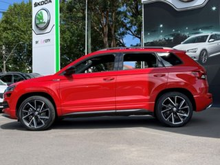 2020 Skoda Karoq NU MY21 140TSI DSG AWD Sportline Red 7 Speed Sports Automatic Dual Clutch Wagon