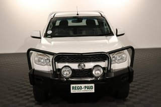 2013 Holden Colorado RG MY13 LX Crew Cab White 6 speed Automatic Cab Chassis.