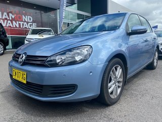 2011 Volkswagen Golf VI MY11 118TSI DSG Comfortline Blue 7 Speed Sports Automatic Dual Clutch.
