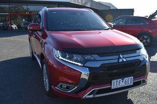 2019 Mitsubishi Outlander ZL MY19 PHEV AWD Exceed Red/Black 1 Speed Automatic Wagon Hybrid.