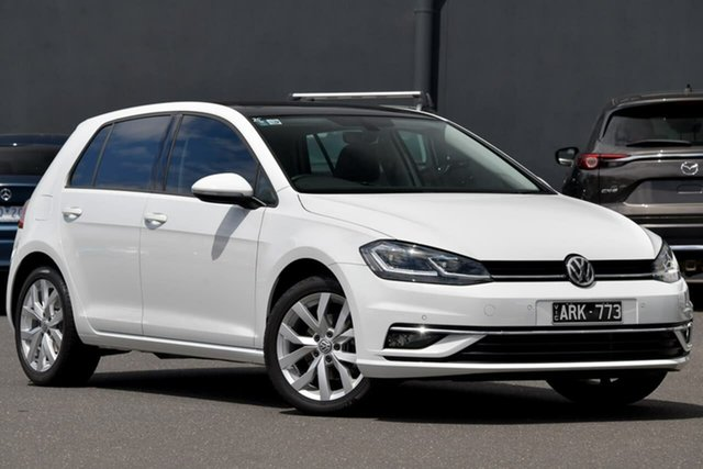 Used Volkswagen Golf 7.5 MY18 110TSI DSG Highline Moorabbin, 2018 Volkswagen Golf 7.5 MY18 110TSI DSG Highline White 7 Speed Sports Automatic Dual Clutch