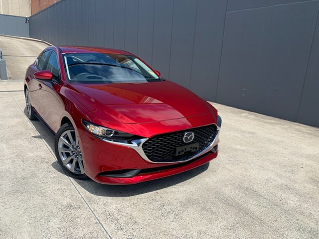 New Mazda 3 BP2S7A G20 SKYACTIV-Drive Evolve Alexandria, 2020 Mazda 3 BP2S7A G20 SKYACTIV-Drive Evolve Soul Red Crystal 6 Speed Sports Automatic Sedan