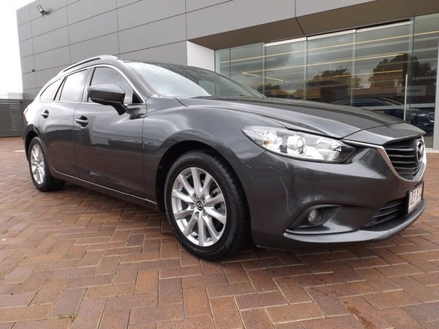Used Mazda 6 GL1031 Sport SKYACTIV-Drive Toowoomba, 2017 Mazda 6 GL1031 Sport SKYACTIV-Drive Machine Grey 6 Speed Sports Automatic Wagon