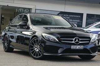 2017 Mercedes-Benz C-Class W205 807+057MY C200 9G-Tronic Black 9 Speed Sports Automatic Sedan