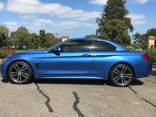 2017 BMW 4 Series F33 LCI 420i M Sport Blue 8 Speed Sports Automatic Convertible