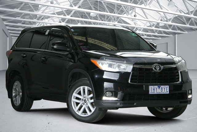 Used Toyota Kluger GSU55R GX (4x4) Altona North, 2016 Toyota Kluger GSU55R GX (4x4) Eclipse Black 6 Speed Automatic Wagon