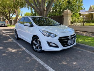 2015 Hyundai i30 GD3 Series II MY16 Active X White 6 Speed Sports Automatic Hatchback.