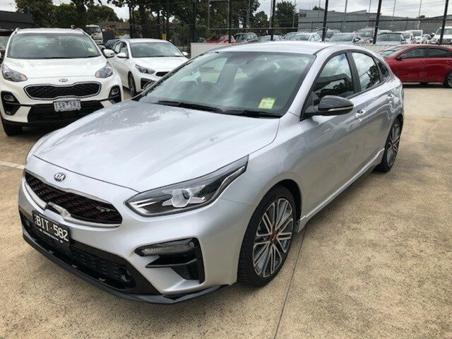 Demo Kia Cerato BD MY21 GT DCT Ferntree Gully, 2020 Kia Cerato BD MY21 GT DCT Silky Silver 7 Speed Sports Automatic Dual Clutch Hatchback