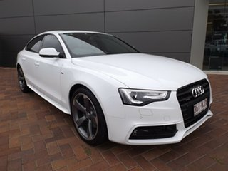 2015 Audi A5 8T MY16 Sportback S Tronic Quattro Ibis White 7 Speed Sports Automatic Dual Clutch.
