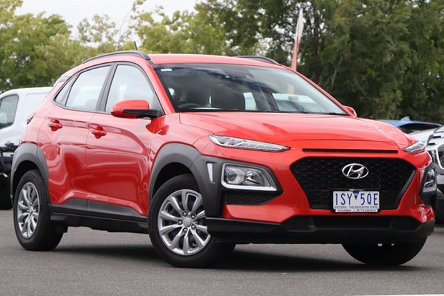 Used Hyundai Kona OS.2 MY19 Go 2WD Essendon North, 2019 Hyundai Kona OS.2 MY19 Go 2WD Orange 6 Speed Sports Automatic Wagon