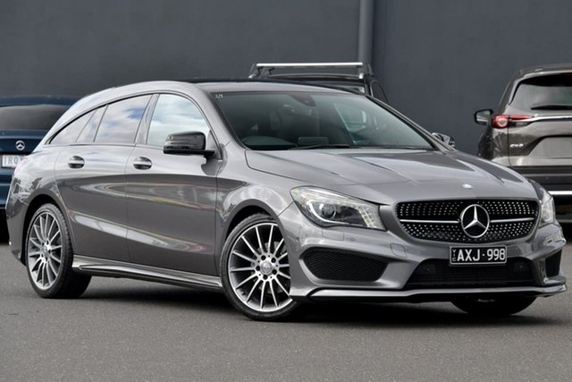 Used Mercedes-Benz CLA-Class X117 CLA200 Shooting Brake DCT Moorabbin, 2015 Mercedes-Benz CLA-Class X117 CLA200 Shooting Brake DCT Grey 7 Speed