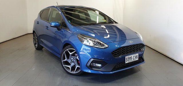 Demo Ford Fiesta WG 2020.25MY ST Elizabeth, 2020 Ford Fiesta WG 2020.25MY ST Performance Blue 6 Speed Manual Hatchback
