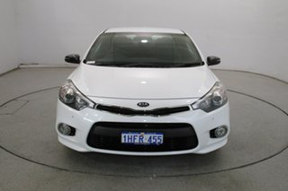 2014 Kia Cerato YD MY14 Koup Turbo White 6 Speed Manual Coupe.