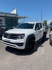 2017 Volkswagen Amarok 2H MY17 TDI420 4MOTION Perm Core Candy White 8 Speed Automatic Cab Chassis.