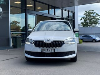 2020 Skoda Fabia NJ MY20.5 81TSI DSG White 7 Speed Sports Automatic Dual Clutch Hatchback.