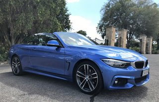 2017 BMW 4 Series F33 LCI 420i M Sport Blue 8 Speed Sports Automatic Convertible.