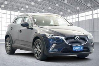 2017 Mazda CX-3 DK2W7A sTouring SKYACTIV-Drive Dark Blue 6 Speed Sports Automatic Wagon.
