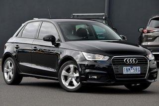 2016 Audi A1 8X MY16 Sport Sportback S Tronic Black 7 Speed Sports Automatic Dual Clutch Hatchback.