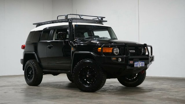 Used Toyota FJ Cruiser GSJ15R Welshpool, 2012 Toyota FJ Cruiser GSJ15R Black 5 Speed Automatic Wagon