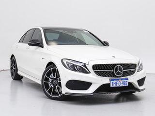 2017 Mercedes-AMG C43 C White 9 Speed Automatic G-Tronic Sedan.