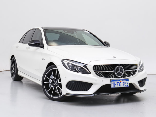 Used Mercedes-AMG C43 C , 2017 Mercedes-AMG C43 C White 9 Speed Automatic G-Tronic Sedan