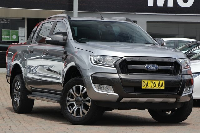 Used Ford Ranger PX MkII Wildtrak Double Cab Parramatta, 2016 Ford Ranger PX MkII Wildtrak Double Cab Grey 6 Speed Sports Automatic Utility