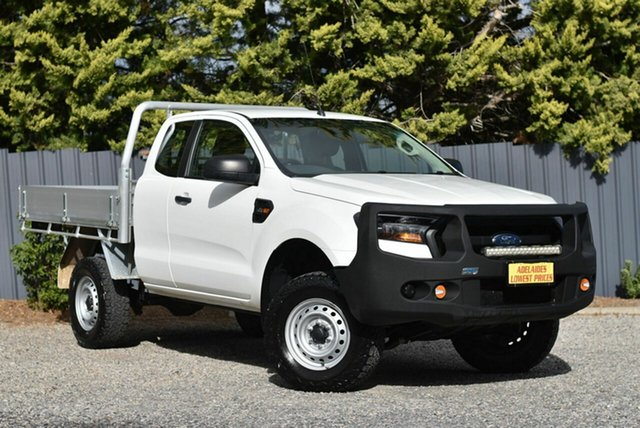 Used Ford Ranger PX MkII 2018.00MY XL Hi-Rider Morphett Vale, 2018 Ford Ranger PX MkII 2018.00MY XL Hi-Rider White 6 Speed Sports Automatic Cab Chassis