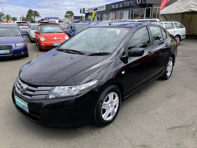 Used Honda City GM VTi Cheltenham, 2009 Honda City GM VTi Black 5 Speed Automatic Sedan