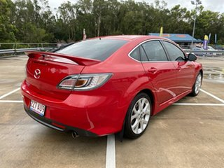 2008 Mazda 6 GH Luxury Sports Red 5 Speed Auto Activematic Hatchback.