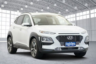2020 Hyundai Kona OS.3 MY20 Highlander D-CT AWD Chalk White 7 Speed Sports Automatic Dual Clutch.