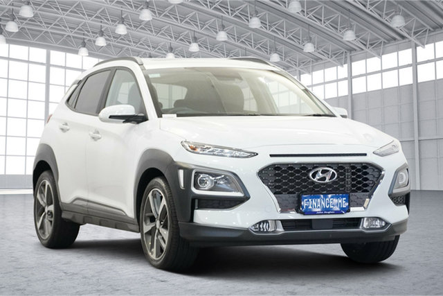 Used Hyundai Kona OS.3 MY20 Highlander D-CT AWD Victoria Park, 2020 Hyundai Kona OS.3 MY20 Highlander D-CT AWD Chalk White 7 Speed Sports Automatic Dual Clutch