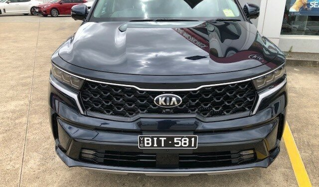 Demo Kia Sorento MQ4 MY21 GT-Line AWD Ferntree Gully, 2020 Kia Sorento MQ4 MY21 GT-Line AWD Gravity Blue 8 Speed Sports Automatic Dual Clutch Wagon