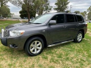 2009 Toyota Kluger GSU40R KX-R (FWD) 7 Seat Graphite 5 Speed Automatic Wagon.