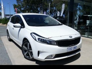 2017 Kia Cerato YD MY18 Sport + NAV White 6 Speed Auto Seq Sportshift Hatchback.