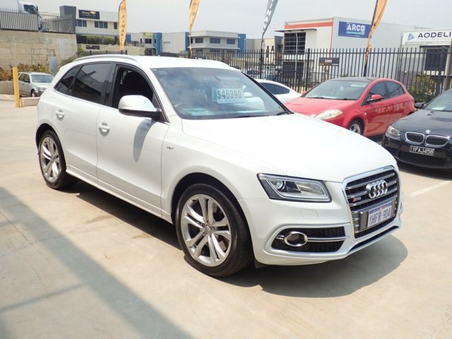 Used Audi SQ5 8R MY15 3.0 TDI Quattro Wangara, 2014 Audi SQ5 8R MY15 3.0 TDI Quattro White Pearl 8 Speed Automatic Wagon