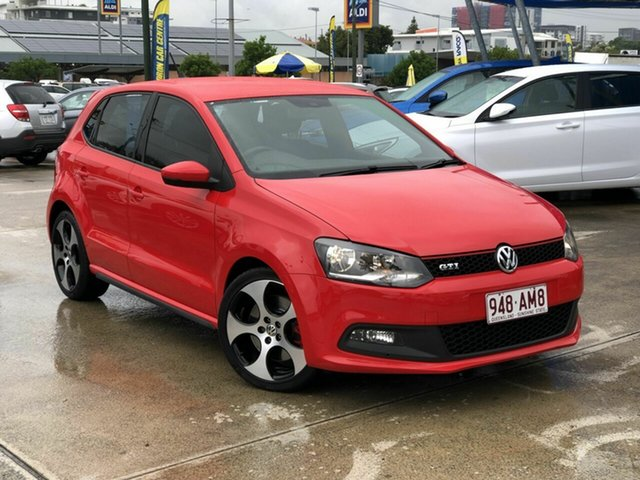 Used Volkswagen Polo 6R MY13.5 GTI DSG Chermside, 2013 Volkswagen Polo 6R MY13.5 GTI DSG Red 7 Speed Sports Automatic Dual Clutch Hatchback