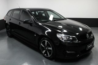 2016 Holden Commodore VF II MY16 SV6 Sportwagon Black Black 6 Speed Sports Automatic Wagon.