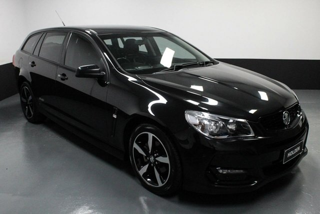 Used Holden Commodore VF II MY16 SV6 Sportwagon Black Hamilton, 2016 Holden Commodore VF II MY16 SV6 Sportwagon Black Black 6 Speed Sports Automatic Wagon