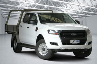2017 Ford Ranger PX MkII MY17 XL 2.2 Hi-Rider (4x2) White 6 Speed Automatic Crew Cab Chassis.