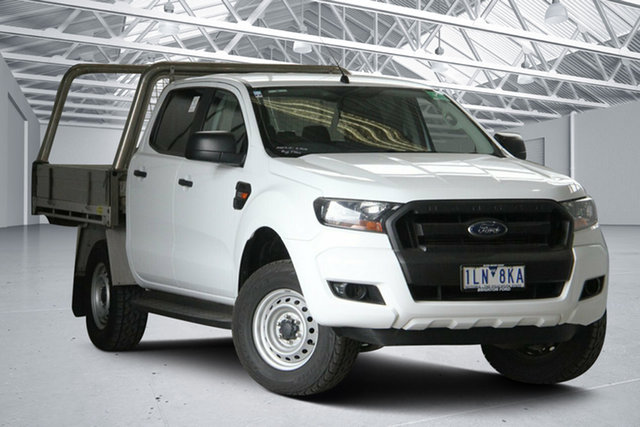 Used Ford Ranger PX MkII MY17 XL 2.2 Hi-Rider (4x2) Altona North, 2017 Ford Ranger PX MkII MY17 XL 2.2 Hi-Rider (4x2) White 6 Speed Automatic Crew Cab Chassis