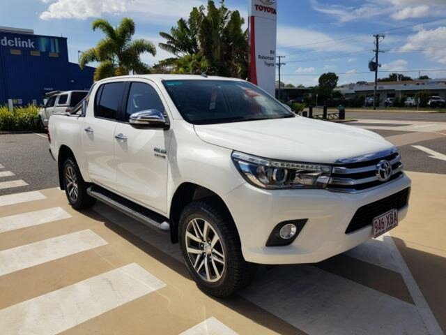 Pre-Owned Toyota Hilux GUN126R SR5 Double Cab Gladstone, 2016 Toyota Hilux GUN126R SR5 Double Cab Glacier White 6 Speed Manual Utility