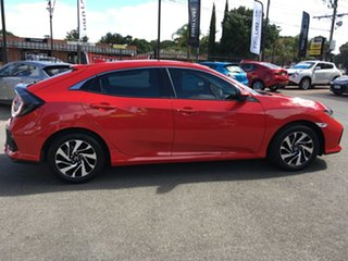 2017 Honda Civic 10th Gen MY17 VTi Red/Black 1 Speed Constant Variable Hatchback.